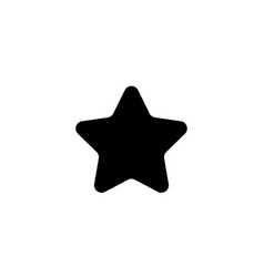 star icon in flat style star symbol on white vector image