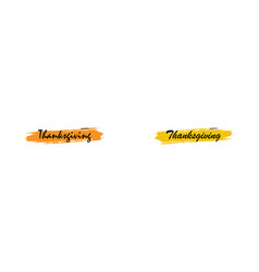 thanksgiving poster or banner hand drawn happy vector image
