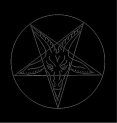 The Sigil of Baphomet vector image