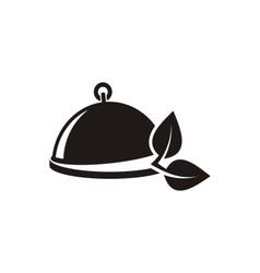 Vegetarian menu emblem vector
