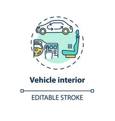 Vehicle interior concept icon vector