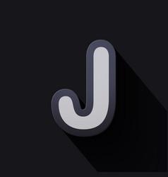 Volume icons alphabet j vector