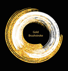 white and gold brushstroke design templates vector image
