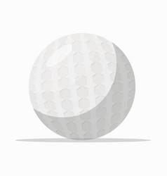 white ball for golf vector image