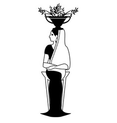 zodiac in the style of ancient greece virgo woman vector image