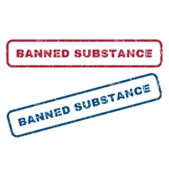 Banned substance rubber stamps vector