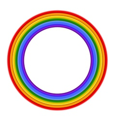 Colorful Rainbow ring vector image
