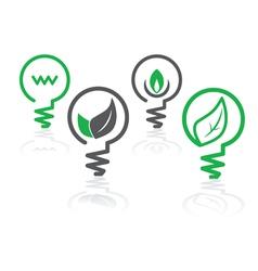 environment green icons vector image