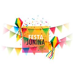 Festa junina holiday greeting card design with vector