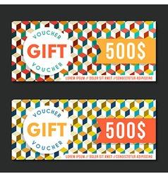 Gift voucher templates modern design vector image vector image