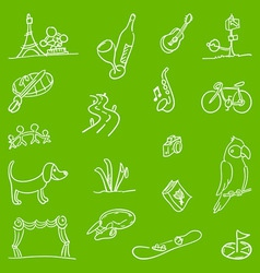 Hobby Symbols vector image