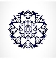 Abstract dark ornament vector image