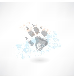 Animals footprint grunge icon vector image vector image