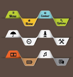 Design elements for web site vector image vector image