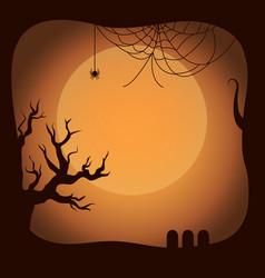postcard on halloween template vector image vector image