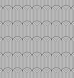Striped flaked monochrome seamless pattern vector image