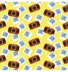 Summer photo pattern vector image