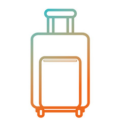 travel suitcase isolated icon vector image