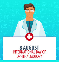 8 august international day of ophthalmology vector