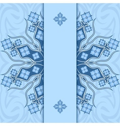 Card with ornament Blue vector image vector image