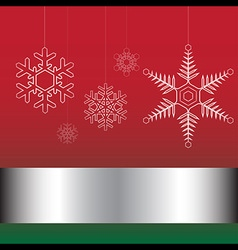Christmas card red and green vector image
