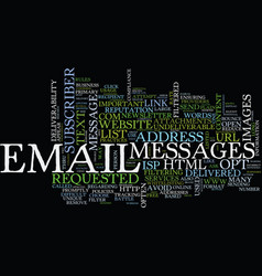 email deliverability tips text background word vector image vector image