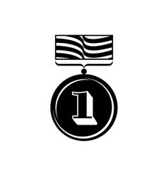 Gold medal icon simple style vector image vector image