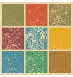 Set of scratched vintage grunge background vector image vector image
