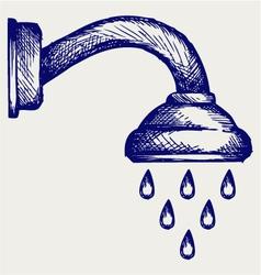 Shower Head vector image
