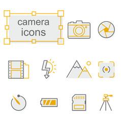 thin line icons set linear symbols set vector image