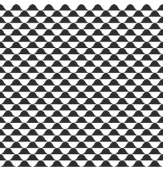 Wave seamless pattern black and white vector image