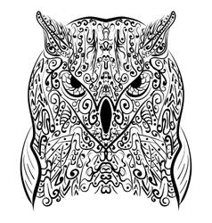Zentangle stylized Black Owl vector image vector image