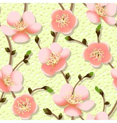 Cherry branch in blossom Seamless texture vector image