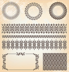 collection of abstract floral pattern vector image vector image