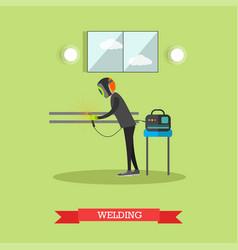factory welder in flat style vector image
