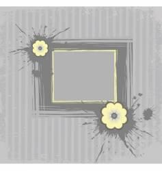 gray frame vector image