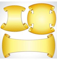 heraldic scrolls vector image vector image
