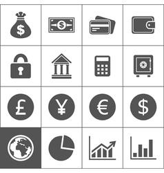 Money an icon2 vector image vector image
