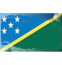 solomon islands national flag vector image vector image