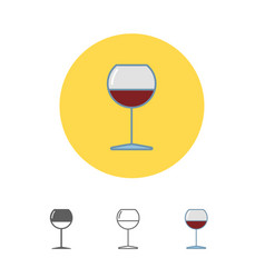 The wineglass icon goblet symbol vector