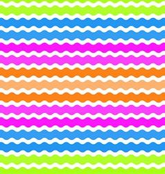 Wave green pink orange blue background seamless vector image vector image