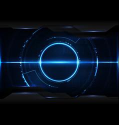 Abstract digital technology futuristic data vector