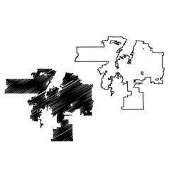 albuquerque city map vector image
