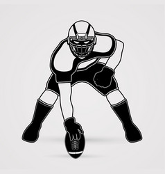 American football pose graphic vector