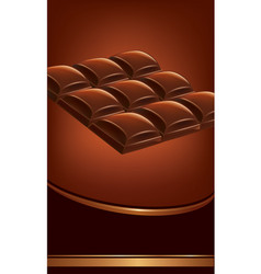 Background of dark chocolate tables vector