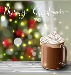 Background with christmas hot chocolate vector