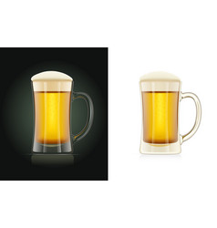 beer glass brewery cup vector image
