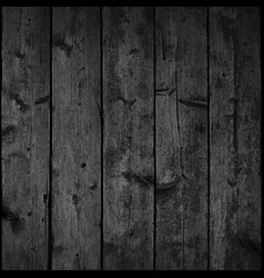 Black realistic texture wood planks with structure vector