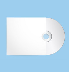 blank cd with cover template eps 10 vector image