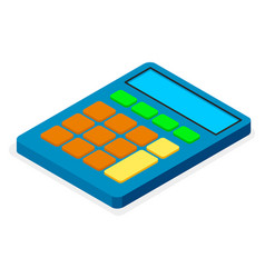 blue calculator flat design icon electronic vector image